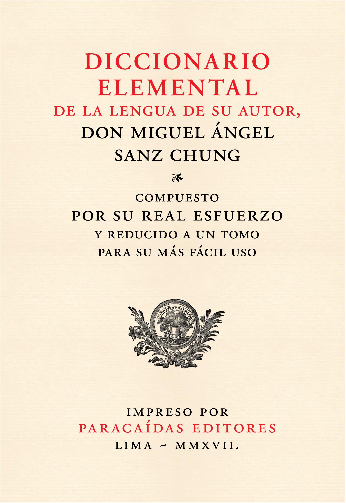 Diccionario elemental de la lengua de su autor