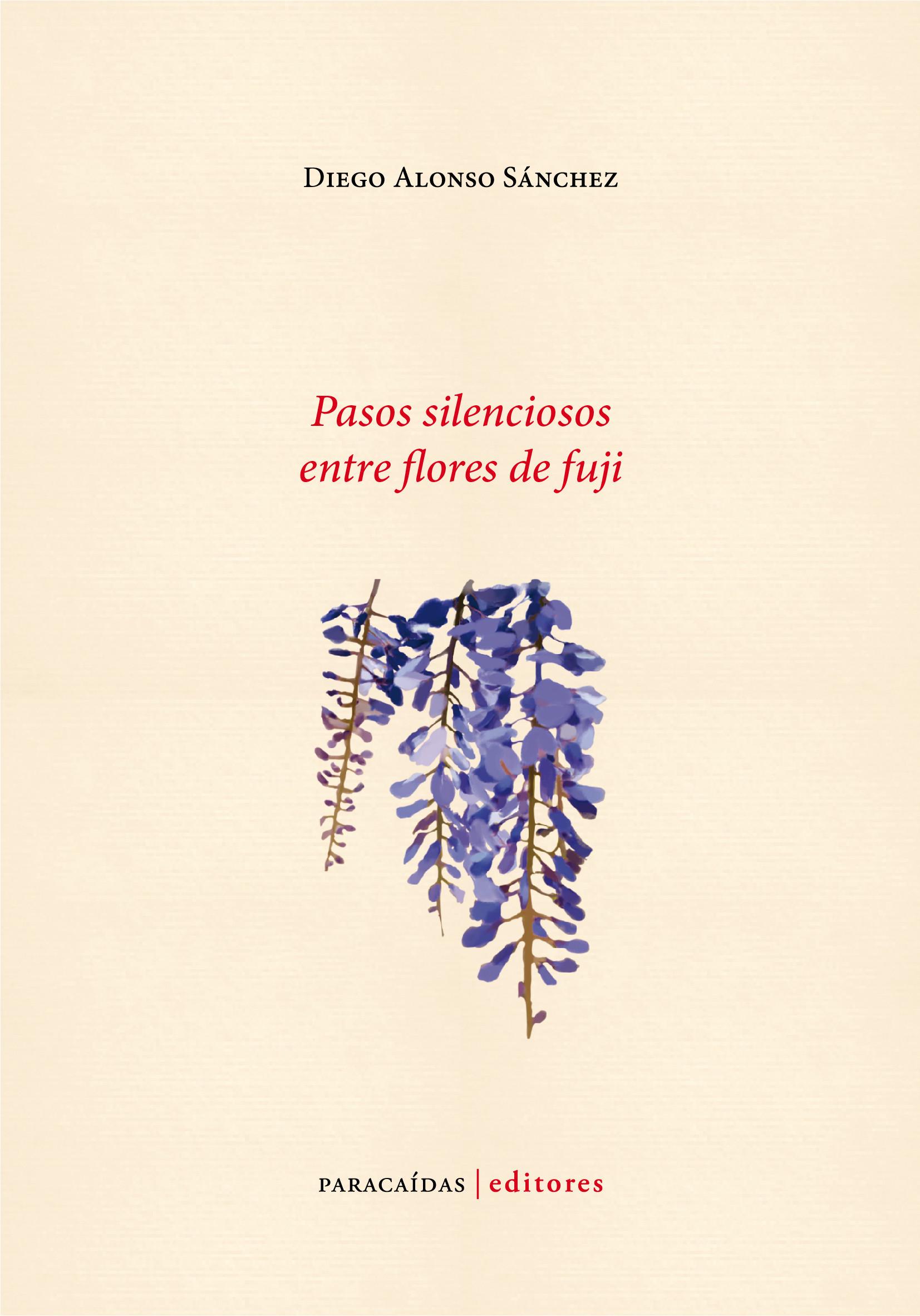 Pasos silenciosos entre flores de fuji