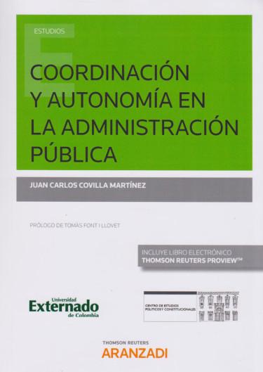 Coordinación y autonomía en la administración pública.