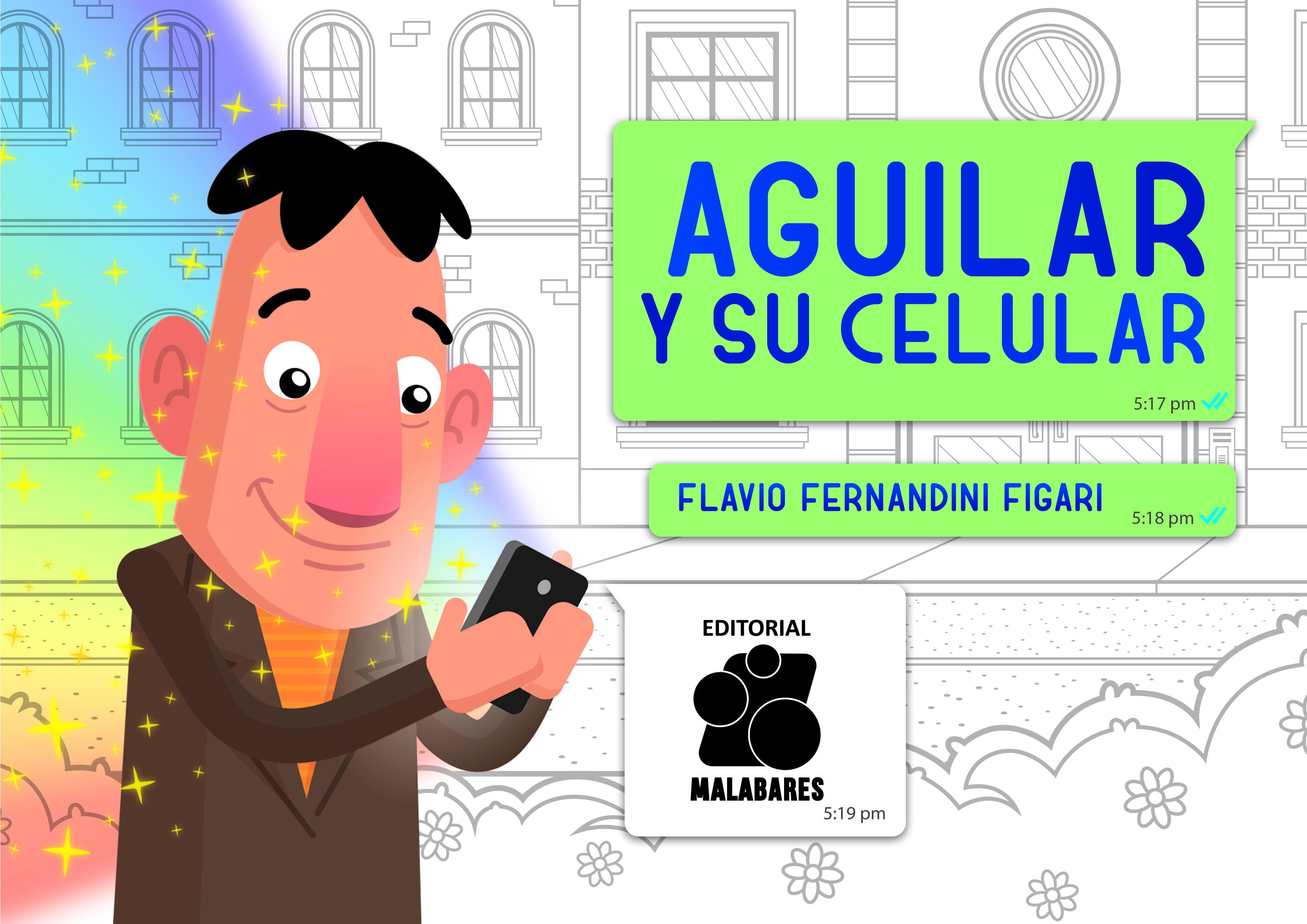 Aguilar y su celular