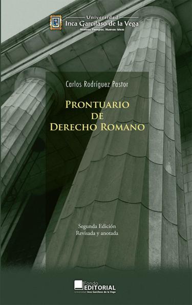 Prontuario de derecho romano