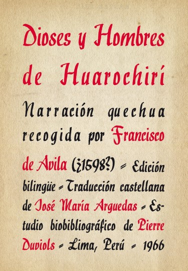 Dioses y hombres de Huarochirí