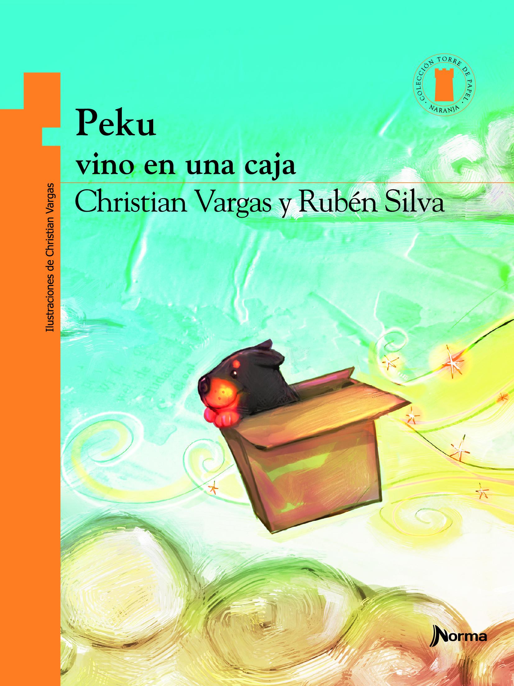 Peku vino en una caja