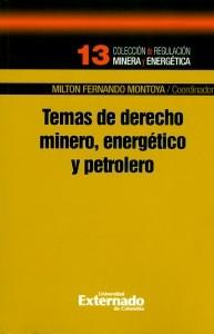 Temas de derecho minero, energético y petróleo.