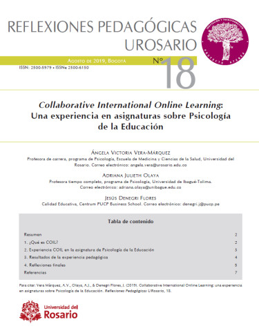 Reflexiones pedagógicas UROSARIO N° 18