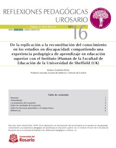 Reflexiones pedagógicas N° 16