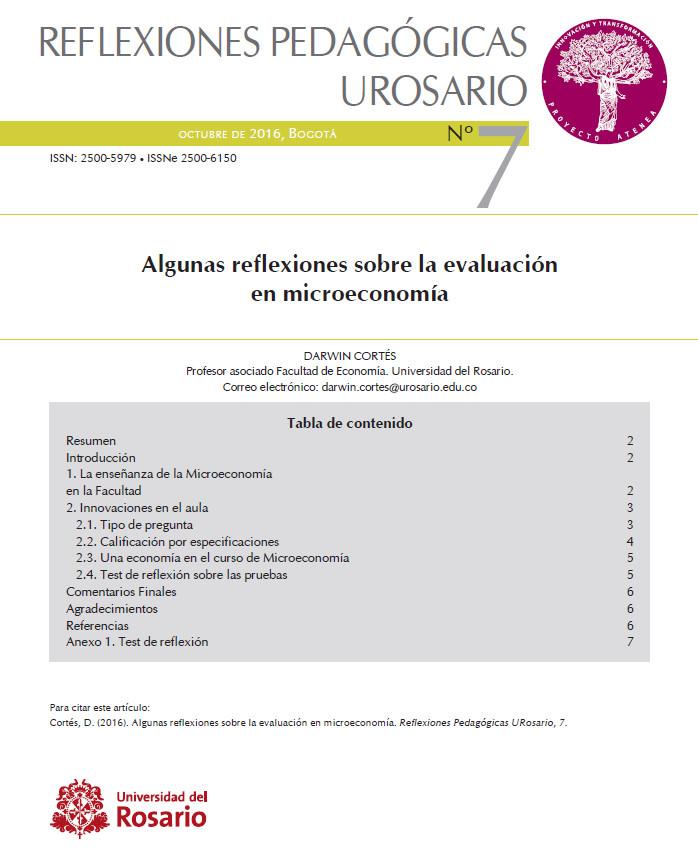 Reflexiones pedagógicas N° 7