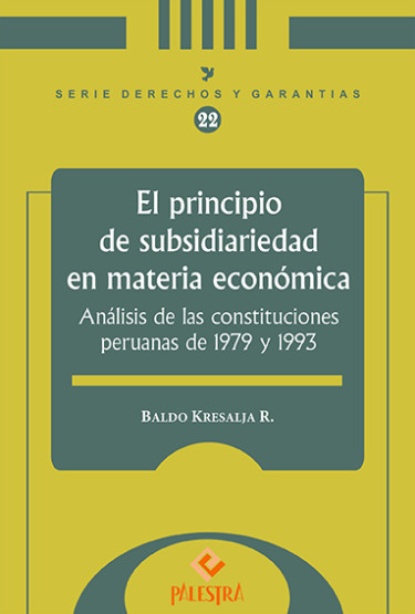 El Principio De Subsidiariedad En Materia Economica