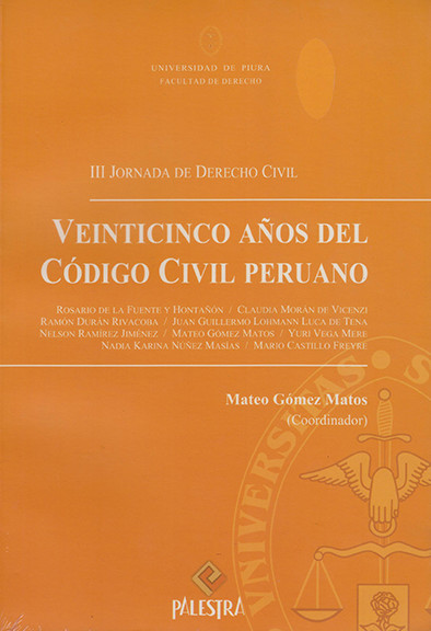 Veinticinco Años Del Codigo Civil Peruano