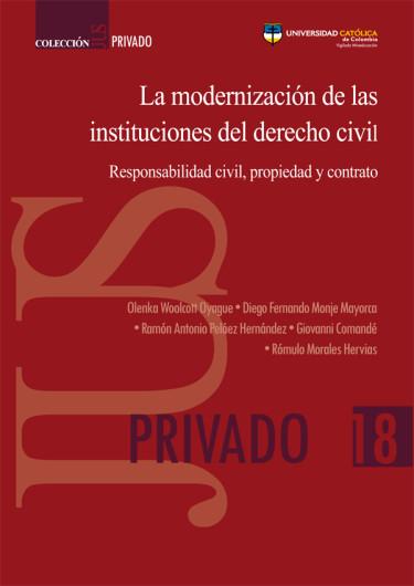 La modernización de las instituciones del derecho civil. Responsabilidad civil, propiedad y contrato. Colección JUS Privado N°.18