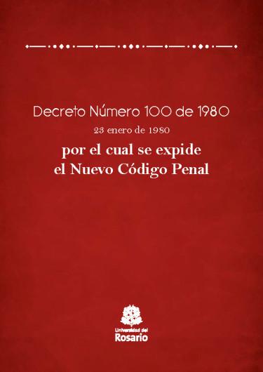 Decreto Número 100 de 1980.