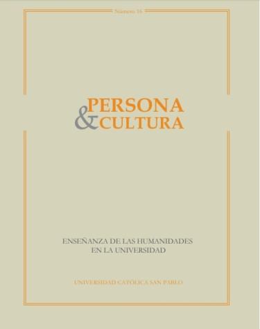 Revista Persona y Cultura, año 16, n.16