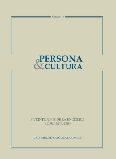 Revista Persona y Cultura, año 15, n.15