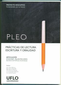 PLEO. Prácticas de Lectura, Escritura y Oralidad