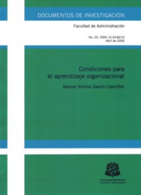 Condiciones para el aprendizaje organizacional
