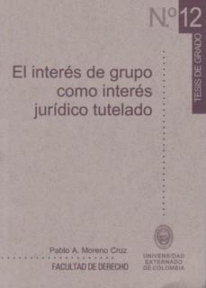 El interés de grupo como interés jurídico tutelado