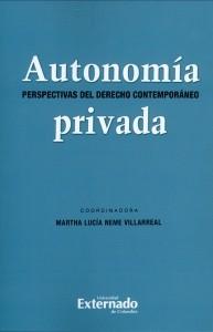 Autonomía privada. Perspectiva del derecho contemporáneo