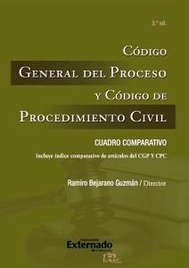 Código General del Proceso y Código de Procedimiento Civil.