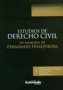Estudios de derecho civil: en memoria de Fernando Hinestrosa.