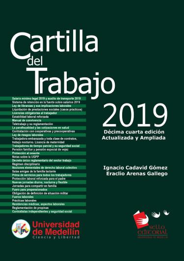 CARTILLA  DEL  TRABAJO 2019. Décima Cuarta Edición.