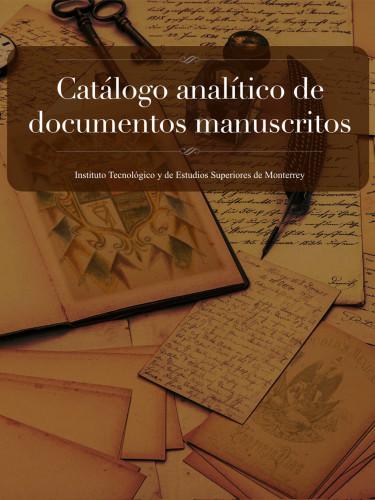 Catálogo analítico de documentos manuscritos
