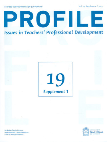 Profile. Issues in Teachers Professional Development Vol. 19 Suupplement 1 2017