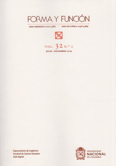 Revista Forma y Función Vol. 32 N.2