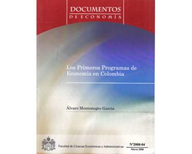 Los primeros programas de economía en Colombia
