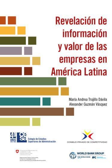 Portada de la publicación Revelación de información y valor de las empresas en América Latina