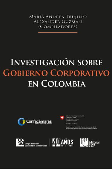 Portada de la publicación Investigación sobre gobierno corporativo en Colombia