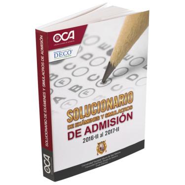 Solucionario de exámenes y simulacros de admisión 2016-II al 2017-II