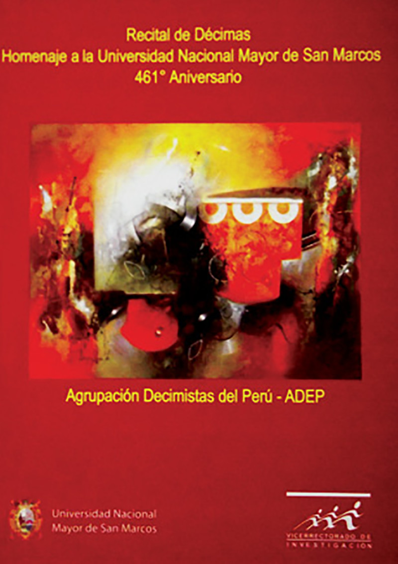 RECITAL DE DÉCIMAS EN HOMENAJE A LA UNIVERSIDAD NACIONAL MAYOR DE SAN MARCOS POR EL 461.° ANIVERSARIO
