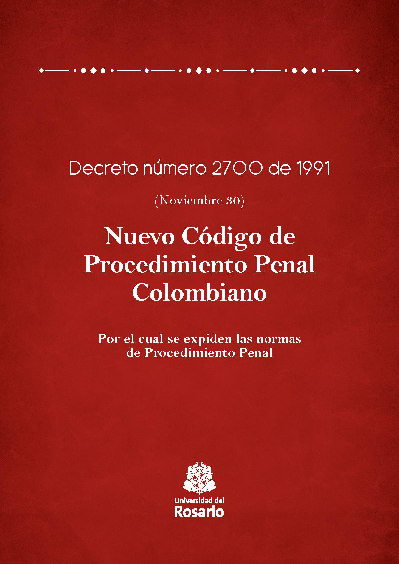 Nuevo Código de Procedimiento Penal Colombiano