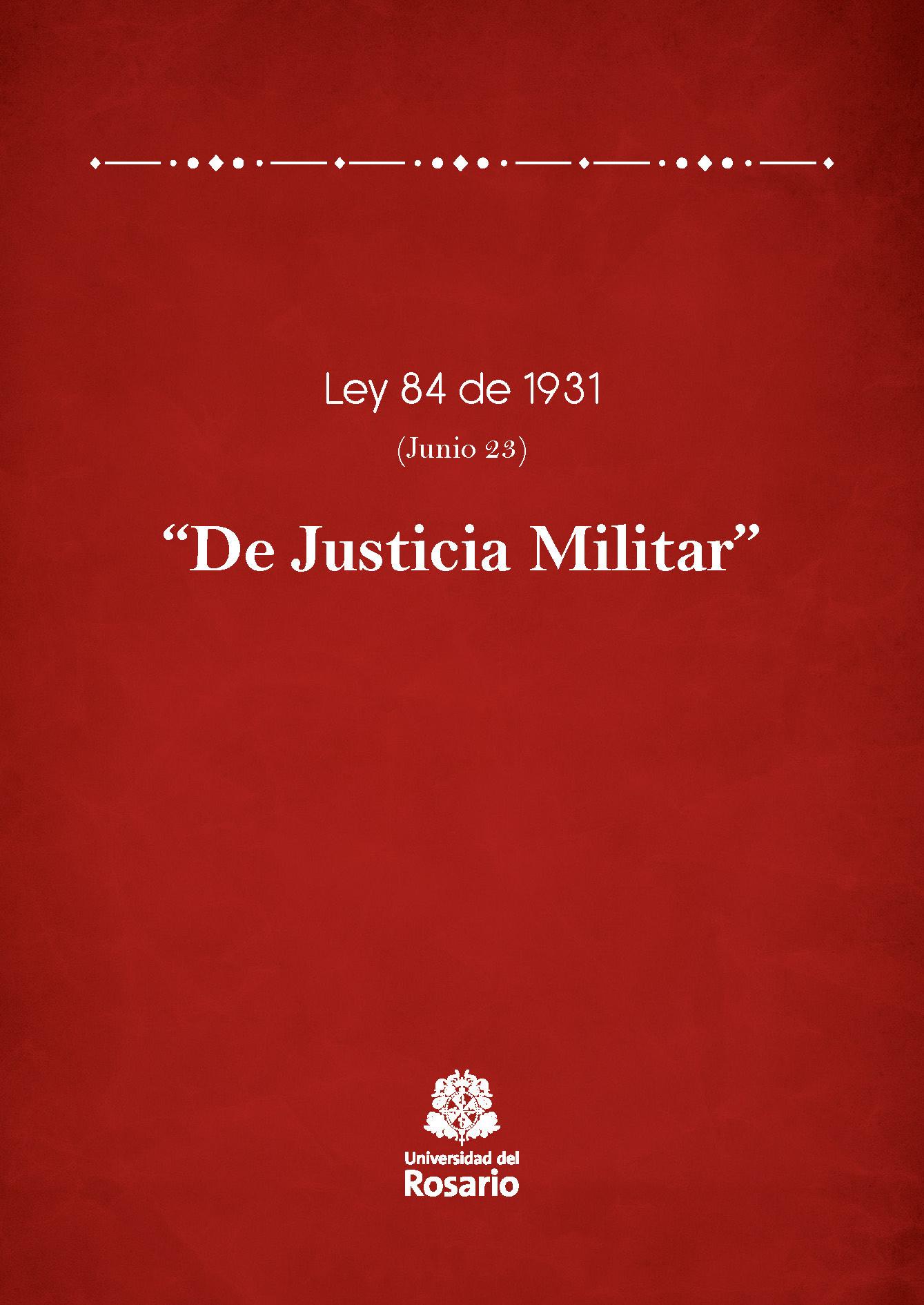 Ley 84 de 1931 (Junio 23)