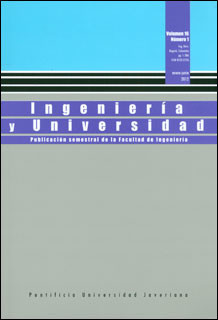 Ingeniería y universidad Vol. 16 No 1