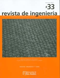 Revista de Ingeniería No. 33. Memoria: