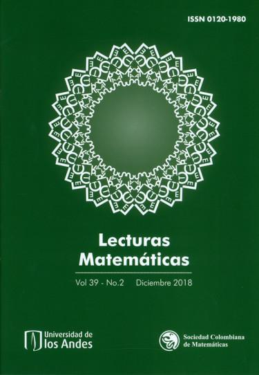 Revista. Lecturas matemáticas Vol 39 -N°. 2. Diciembre 2018