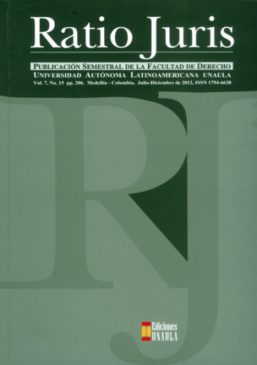 Revista Ratio Juris. Vol. 7. No.15