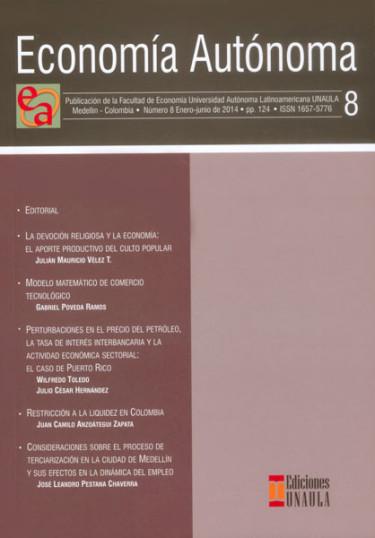 Revista economía autónoma. No.8
