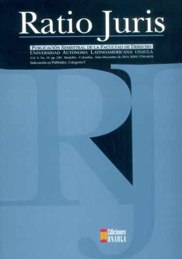 Revista Ratio Juris. Vol. 9. No.19