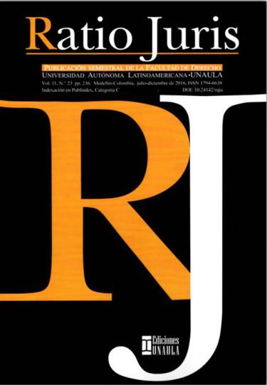 Ratio Juris Vol. 11 No. 23 Julio - Diciembre 2016